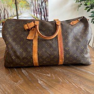 LOUIS VUITTON Keepall Bandouliere 50 Duffel Bag